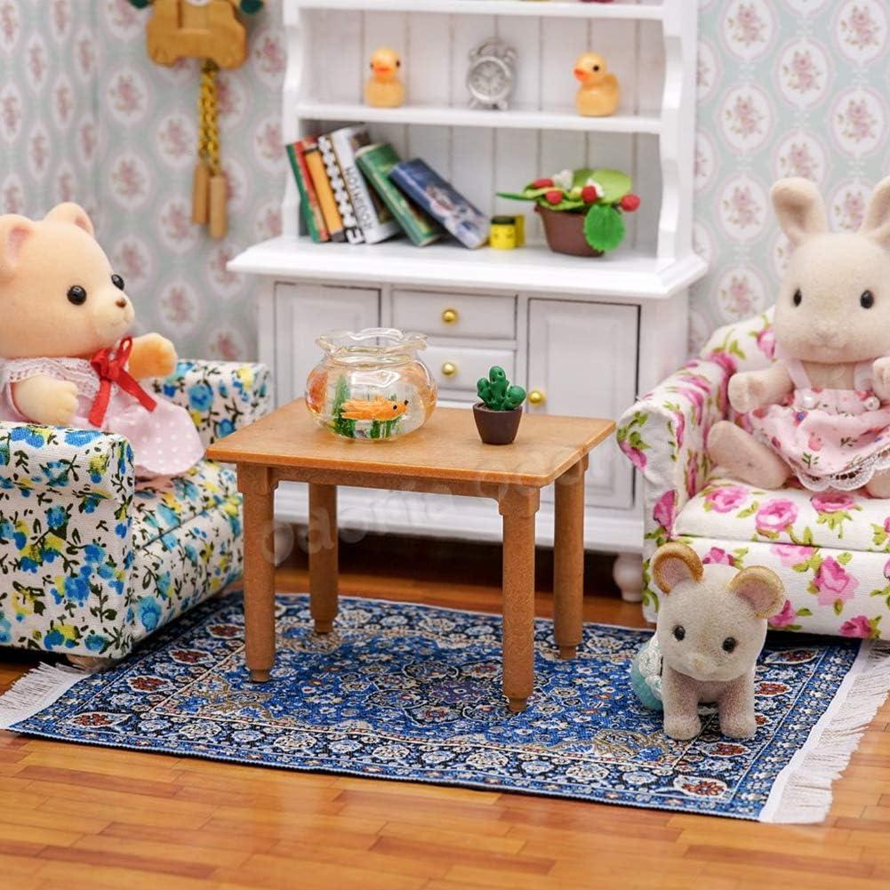 1//12 Doll House Star Sky Print Retro Miniature Woven Carpet Rug Blanket Decor JujubeZAO Miniature Blanket