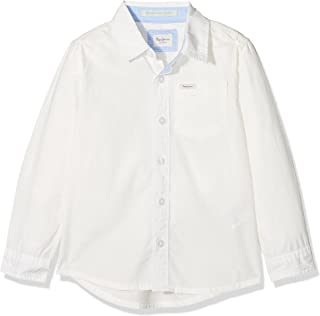 Pepe Jeans Jungen Bluse Manny Jr Weiß (Off White) 16 Jahre PB300974