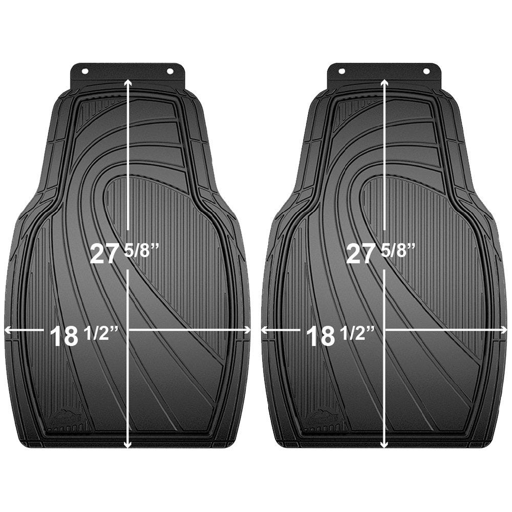 Armor All 79963 4-Piece Black//Grey Rubber All Season Floor Mat