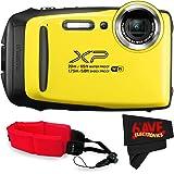 Fujifilm FinePix XP130 Digital Camera (International Version) No Warranty + Floating Strap + Fibercloth (Yellow)