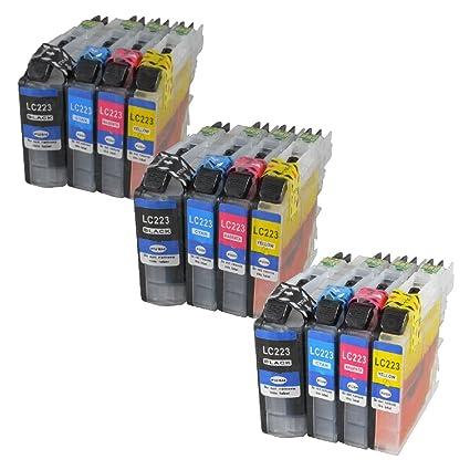12 x Cartuchos de Impresora IBC para Brother LC 223 LC 225 DCP ...