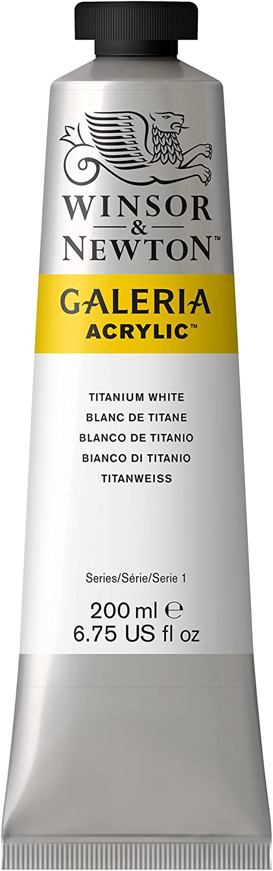 Winsor & Newton Galeria Acrylic Paint, 200-ml Tube, Titanium White