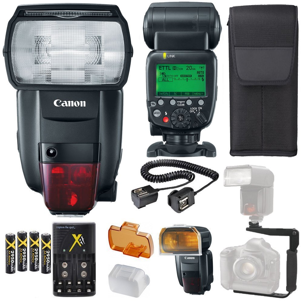 Amazon.com: Canon Speedlite flash 600EX ii-rt + Soporte en L ...
