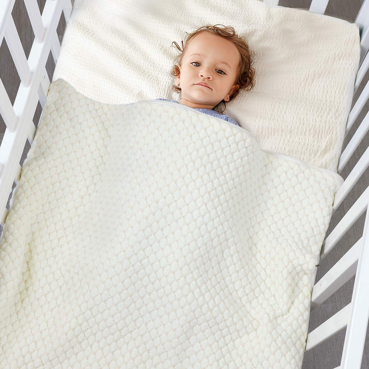 Baby Wrap Wickeldecke Strick Schlafsack Schlafsack Kinderwagen Wrap Weich Warm f/ür 0-12 Monate Babys Unisex