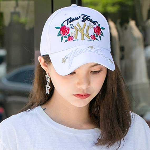 Amazon.com: BTBTAV Women Children Outdoor Travel Visor Cap SPF Male Hand-Painted Sun Hat Lady Baseball Cap Adjustable Peaked Cap and Unisex [],Rose White: ...