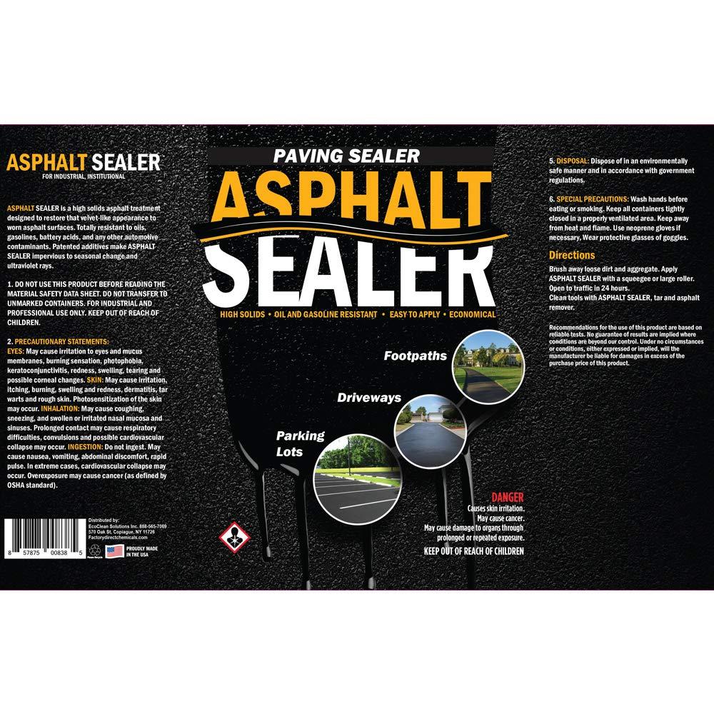 Premium Driveway Sealer & Asphalt Sealer | Sealer for Driveways Blacktop & Asphalt | Commercial Grade - 5 Gallon by FDC Chem (Image #2)