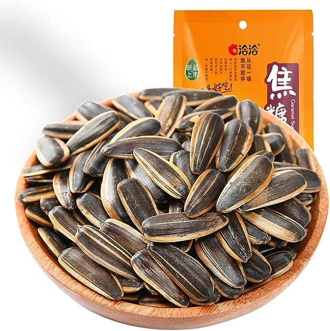 瓜子 焦糖瓜子 葵瓜子 間食 洽洽 瓜の種 ひまわりの種 洽洽焦糖瓜子 干货 零食 108g*1袋