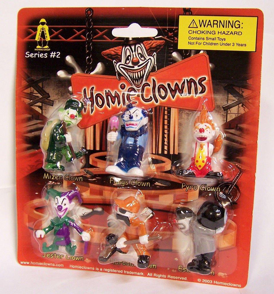 Homieclowns set of 6! Mint On card Homies Clowns Series 2