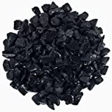 """Hypnotic Gems Materials: 1/2 lb Bulk Rough Shungite Stones from Russia - 1/4"""" to 1/2"""" - Natural Raw Rough Gemstone Supplies for Wicca, Reiki, and Energy Crystal Healing *Wholesale Lot*"""