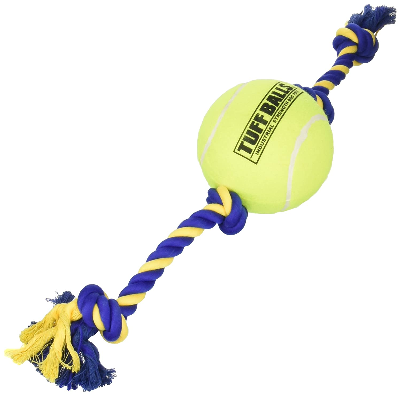 "PetSport 70156 Mega Tuff Ball Tug Dog Toy, 6"", Yellow"