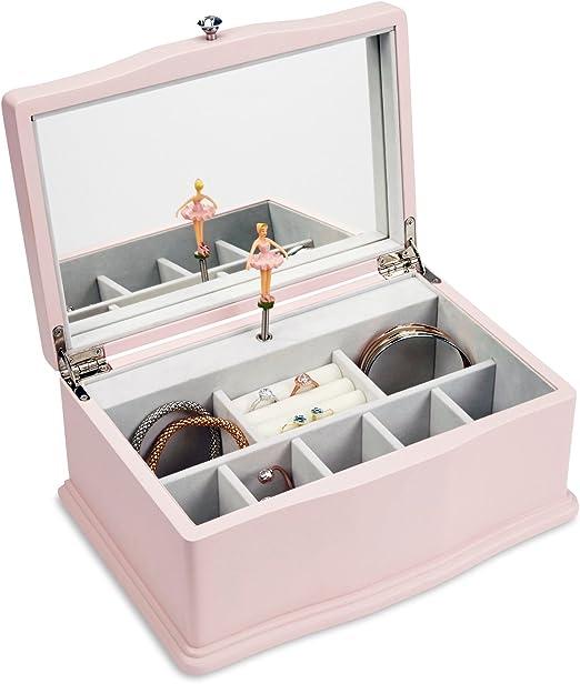 jewelkeeper Niñas caja de joyería Musical de madera, diseño ...