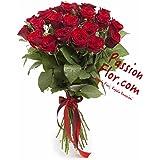 Consegna Mazzo di 15 Rose Rosse Fresche