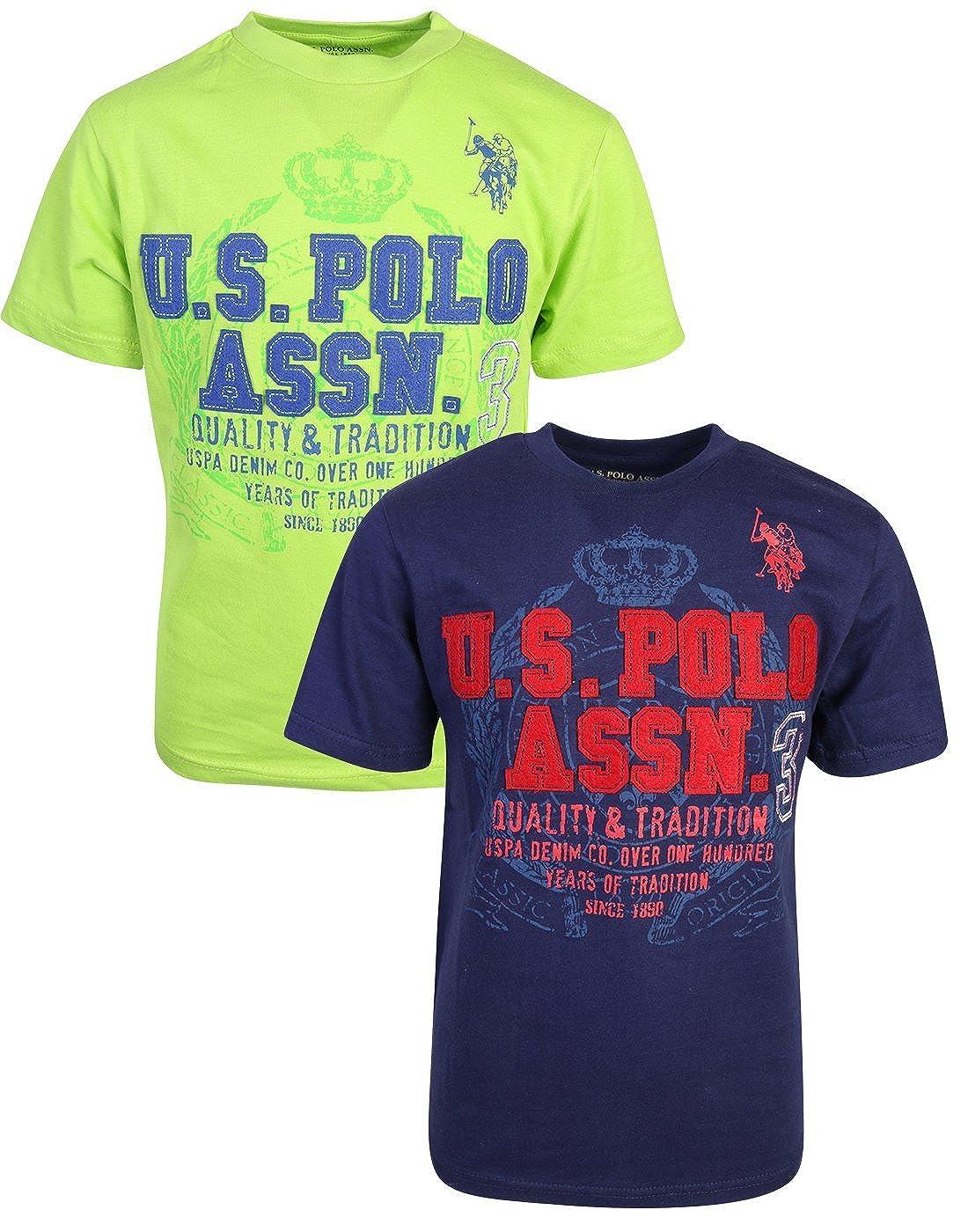 U.S. Polo Assn. Boy's Short Sleeve Graphic T-Shirt (2 Pack)