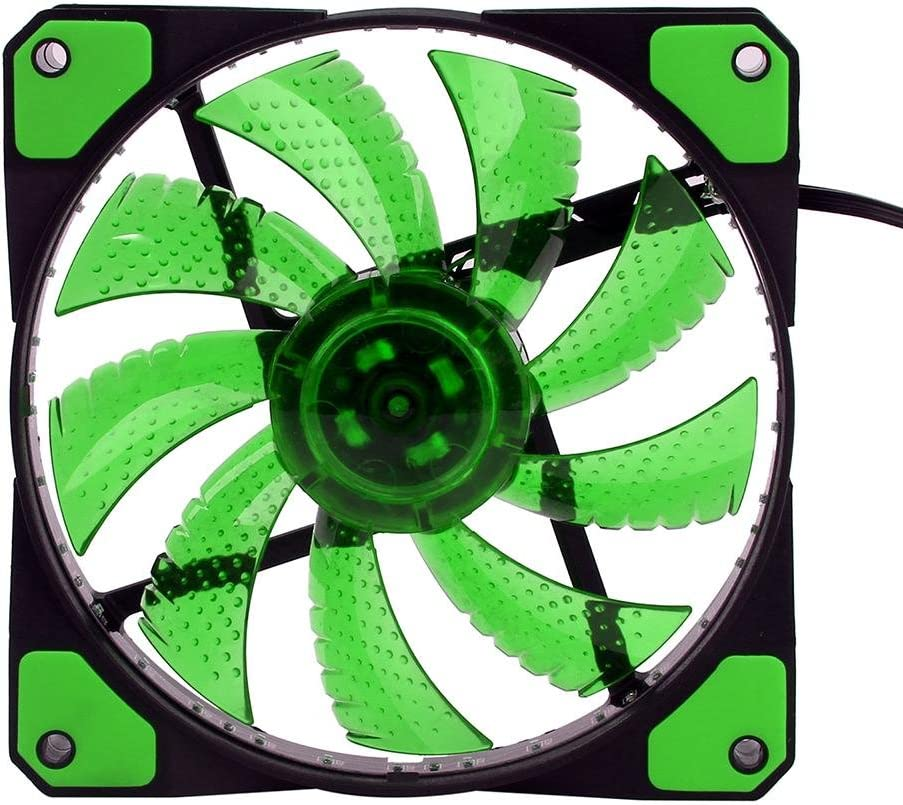 auoker 120 mm caso ventilador – Alta presión estática LED de 120 ...