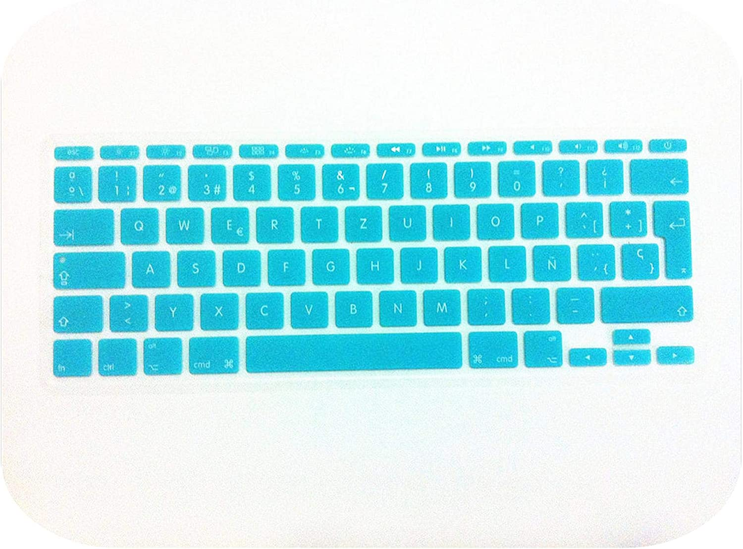 Film Pour Clavier Spanish UK//EU Silicone Soft Keyboard Cover Skin Sticker Protective Film for MacBook Air 11.6 Inch 11 EU Layout-White