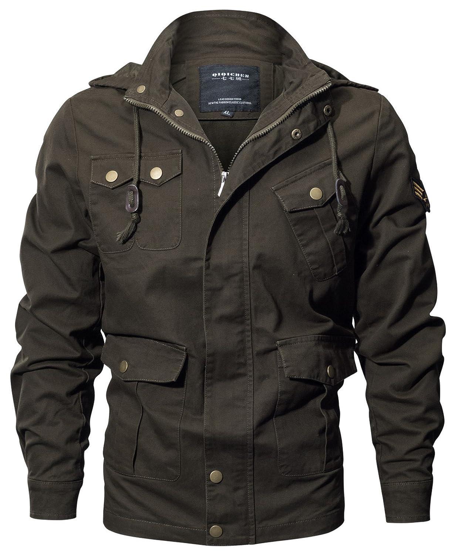 DHYZZ Herren Hochwertige Modische Baumwolle Militär Jacke Windproof Mantel Übergröße 12 Styles - Alles, was Sie Hier wollen B07PT4CCZL Jacken Haltbarer Service