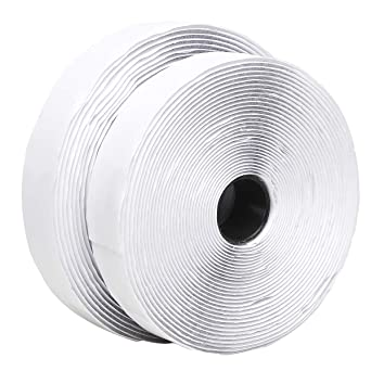 TYLife Hook and Loop Tape,Self Adhesive Sticky Back Roll 1 Inch x 26 Feet Heavy Duty Adhesive Hook Loop Strip Mounting Tape,DIY Self Adhesive Tape for Sewing, Crafting,Indoor and Outdoor Use(White)