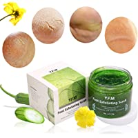 Foot Exfoliating Scrub, Luckyfine Deep Cleaning Exfoliating Scrub, 100% Natural Foot Exfoliator, Fungal Treatment, Moisturizes, Soothes, Removes Dead Skin, Wash Skin Brightening and Nourishment 150g