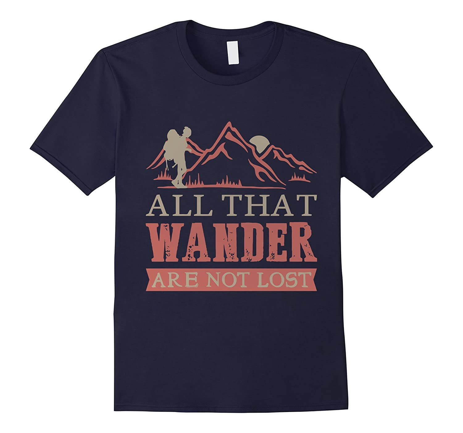Backpacking and Hiking Wanderlust T-Shirt-Vaci