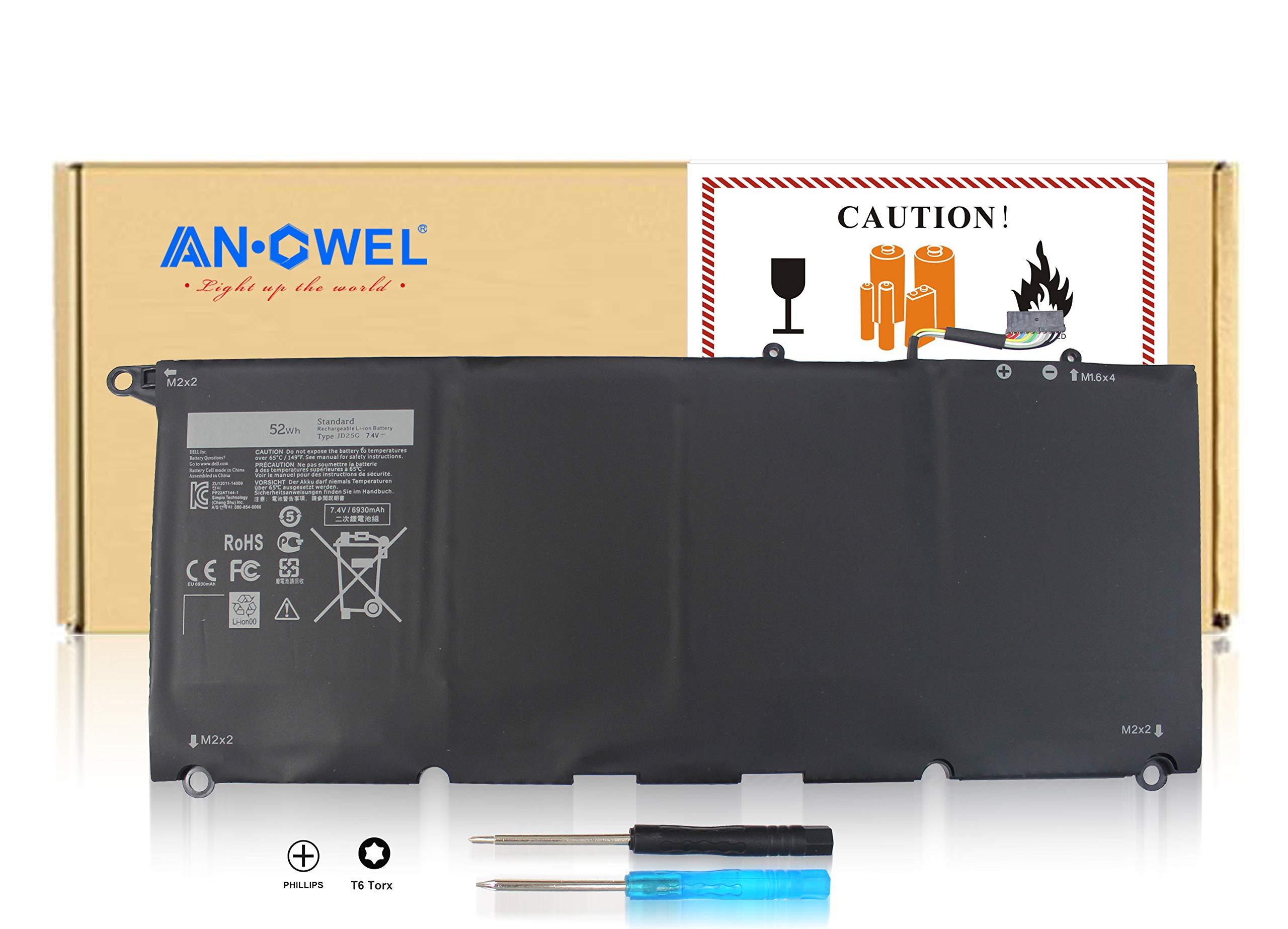 Bateria Jd25g Para Dell Xps 13 Xps 13d 9343 Xps13 9350 Series Para 5k9cp Din02 Rwt1r 90v7w 7.4v 52wh -