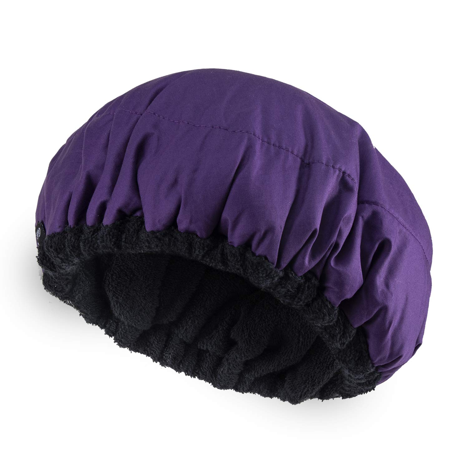 Deep Conditioning Heat Cap Microwavable Heat Cap for Steaming Hair Styling and Treatment Steam Cap Steaming Haircare Therapy (Purple)