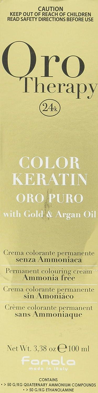 Fanola - Oro Therapy Color Keratin Puro, crema colorante permanente 100mL 10 Blondplatin