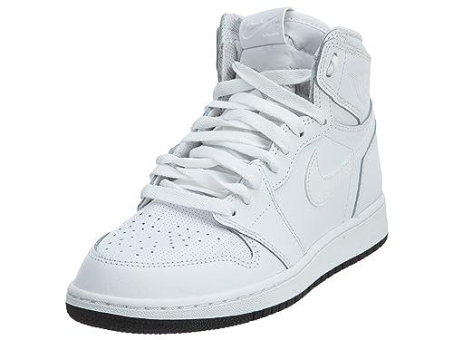 Zapatillas de baloncesto Nike Kids Air 1 Retro High OG Bg Boys 575441-100_3.5Y - Blanco / Negro Blanco: Amazon.es: Libros
