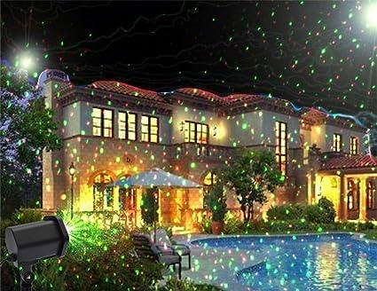 Amazon Com Lucky U Outdoor Projector Light Chrismas Wedding Birthday Decoration Projector Colorful Stars Indoor Outdoor Decoration Sports Outdoors