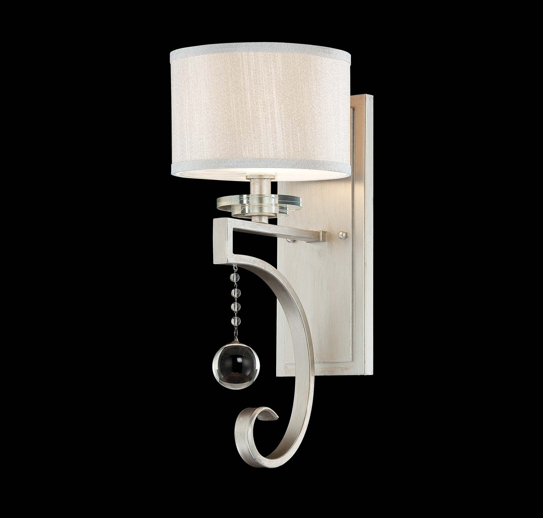 Savoy House 9-256-1-307, Rosendal 1-Light Sconce, Silver Sparkle