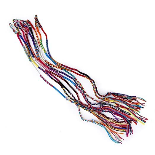 UEETEK 9pcs Handmade Wrist Ankle Thread Bracelets Friendship Braided Bracelet (Random Color) wdicC3oX3L