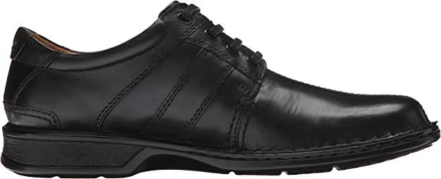 Clarks Men/'s Touareg Vibe Black Leather Oxford Shoes 26113920