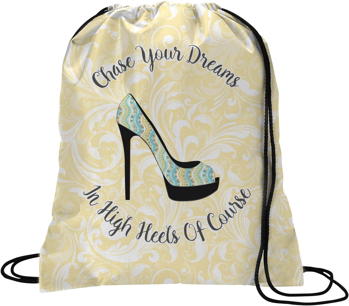 Drawstring Backpack High Heel Shoes Rucksack