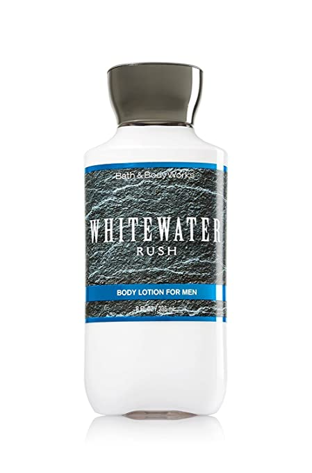 Bath and Body Works Mens Body Lotion Whitewater Rush 8 Ounce Retired Fragrance Full Size