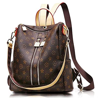 bcf78f8d353d Olyphy Designer Leather Backpack Purse for Women