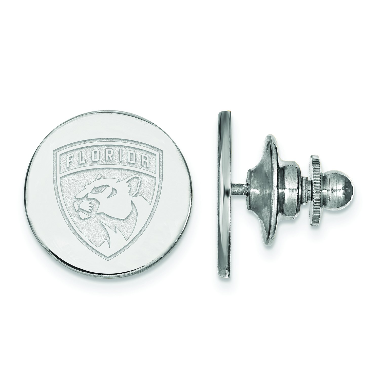 Logoart Nhl 14k White Gold Florida Panthers Lapel Pin