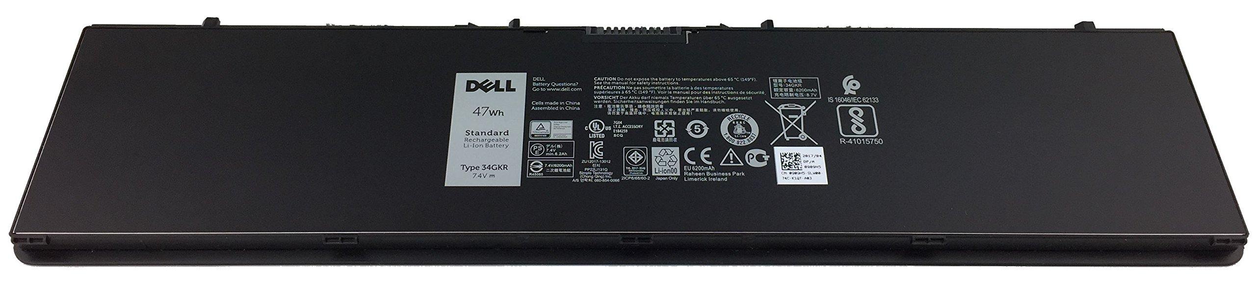 Genuine Dell Battery 4 Cells 47Wh for Dell Latitude E7440 & E7450 (Type 34GKR)