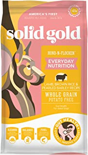 product image for Solid Gold Hund-N-Flocken with Real Lamb, Brown Rice & Barley - Whole Grain - Holistic Adult Dog Food with Probiotic Support - 4lb Bag