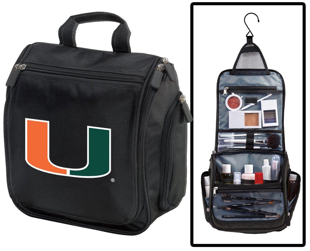 University of Miami Toiletry Bags Or Hanging Miami Canes Shaving Kits