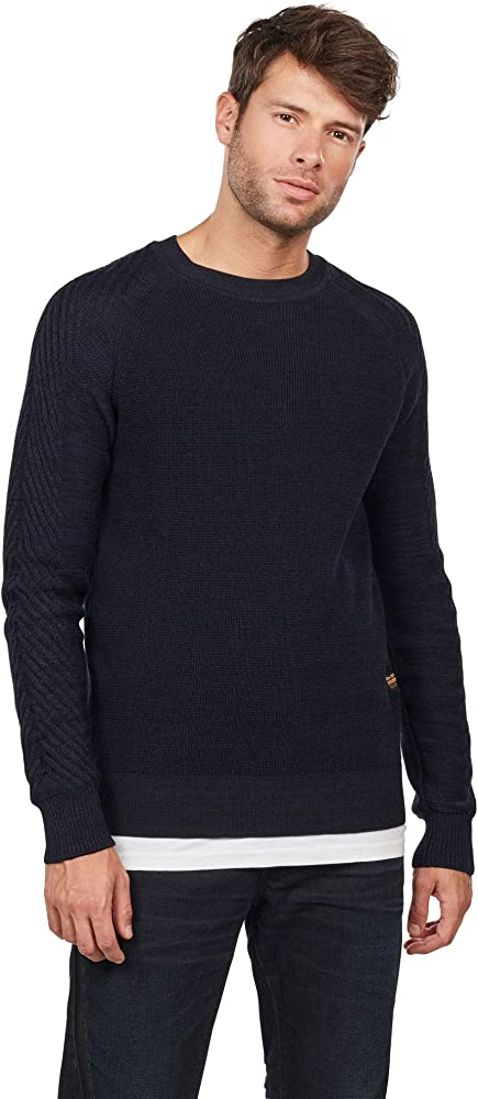 G STAR RAW Herren Muzaki Pullover, Mehrfarbig (Dk Black