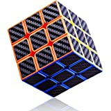 Syolee Speed Cube 3x3 Carbon Fiber Sticker Smooth Magic Cube 3D Puzzle Toys for Kids and Adults