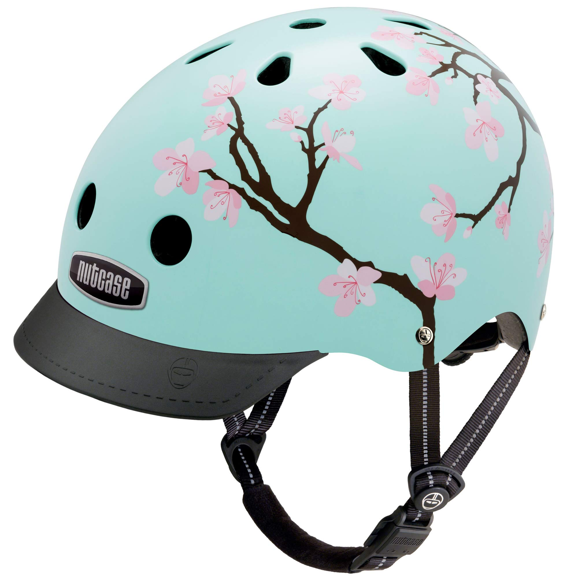 Nutcase - Patterned Street Bike Helmet for Adults, Cherry Blossoms, Small by Nutcase