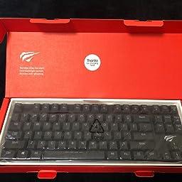 Amazon Havitメカニカルキーボード低背 青軸kailh最新のロープロファイル技術 有線87キーn キーロールオーバー 黒 Havit パソコン用キーボード 通販