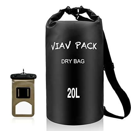 f004ea90f8 VIAV Waterproof Dry Bag 10L 15L 20L  Lightweight Compact  Roll Top Water  Proof Backpack Sack with Cellphone Case for Kayaking