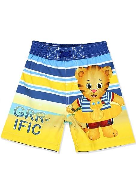5115ec04486b5 Amazon.com: Daniel Tiger Boys Swim Trunks Swimwear (4T, GRR-ific ...