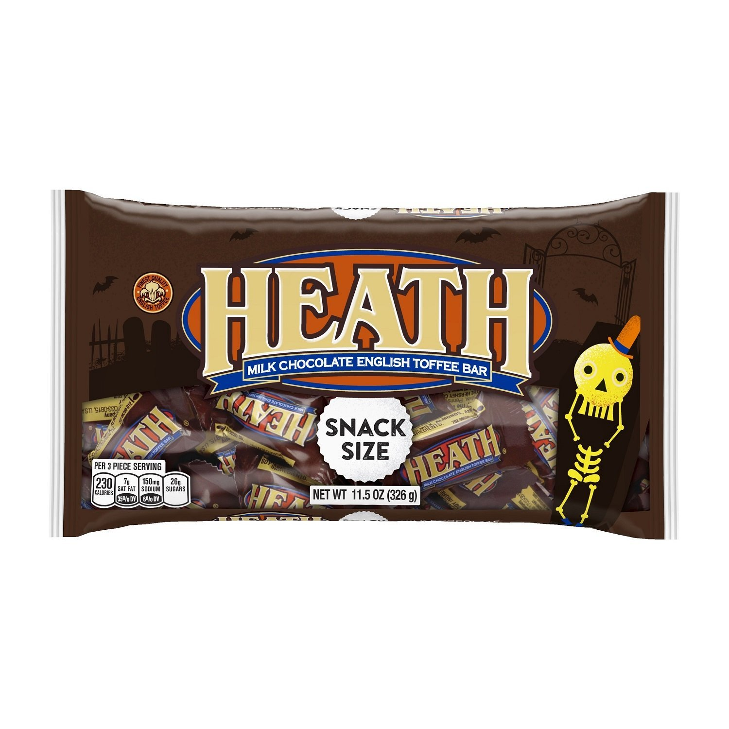 HEATH Snack Size Toffee Bars (11.5 Ounce Bag, Pack of 8) by Heath