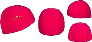 NABAIJI 8277368Les Jeunes Plastique Bonnet de Bain Swimming Caps, Natation, Capuchon, Rose