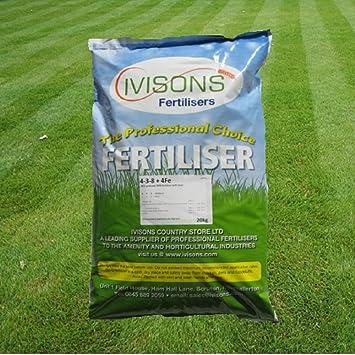 25kg Ivisons Autumn/Winter Professional Lawn Feed Grass Fertiliser ...