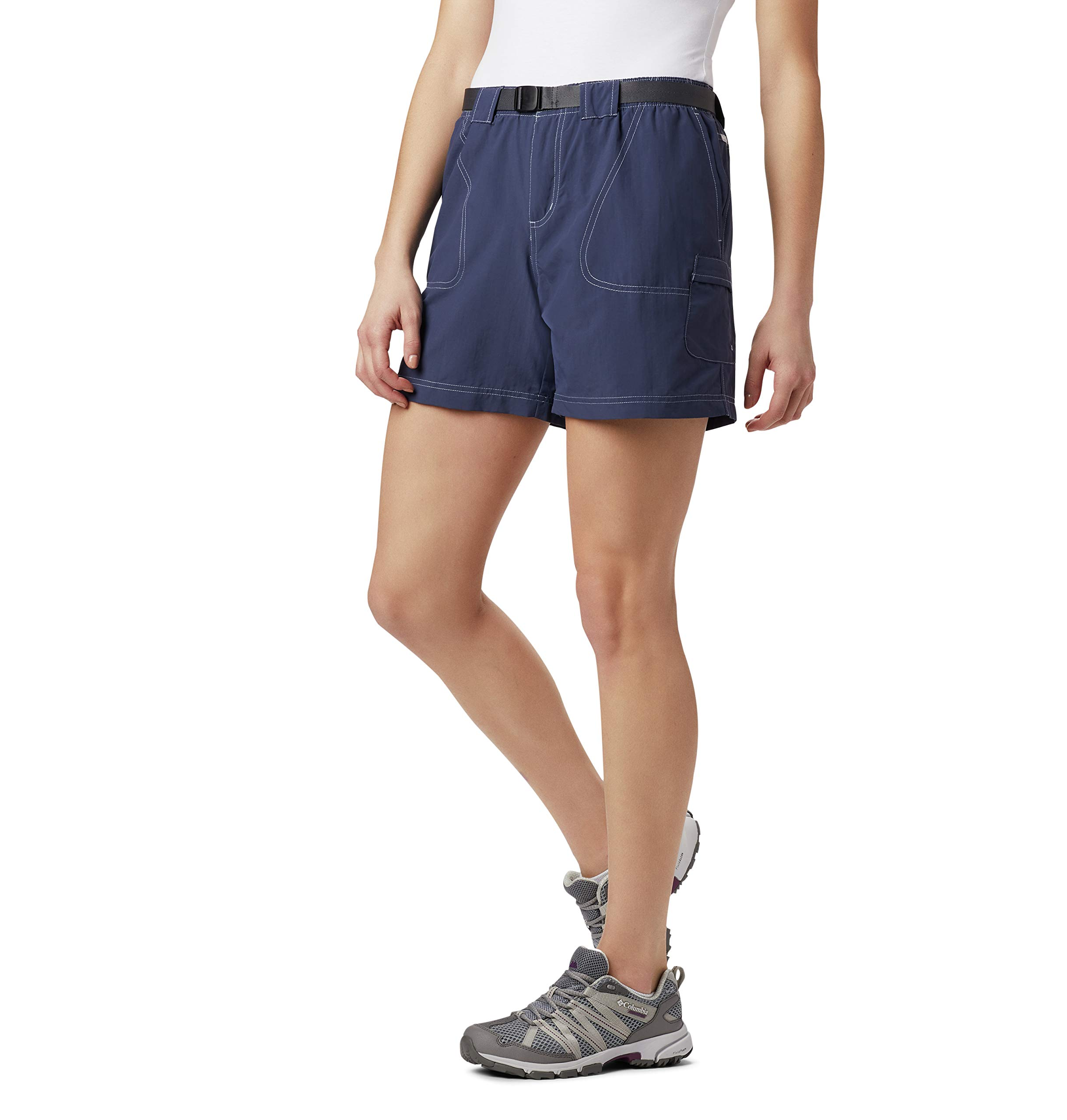 Columbia Women's Plus Size Sandy River Cargo Short, Nocturnal, 1X by Columbia