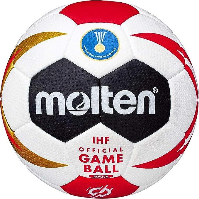 MOLTEN® Balonmano hx3200 de m9z, Color Weiß/Schwarz/Rot/Gold ...