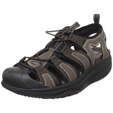 5d2e907ef415f1 Skechers Men s Shape-ups Unwind Sandal Brown UK 11  Amazon.co.uk  Shoes    Bags
